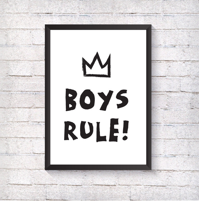 Boys Rule - Crown - Alotta Style - Interior Prints and Posters