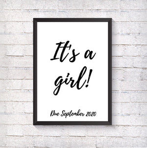 It's a girl! - Alotta Style - Interior Prints and Posters