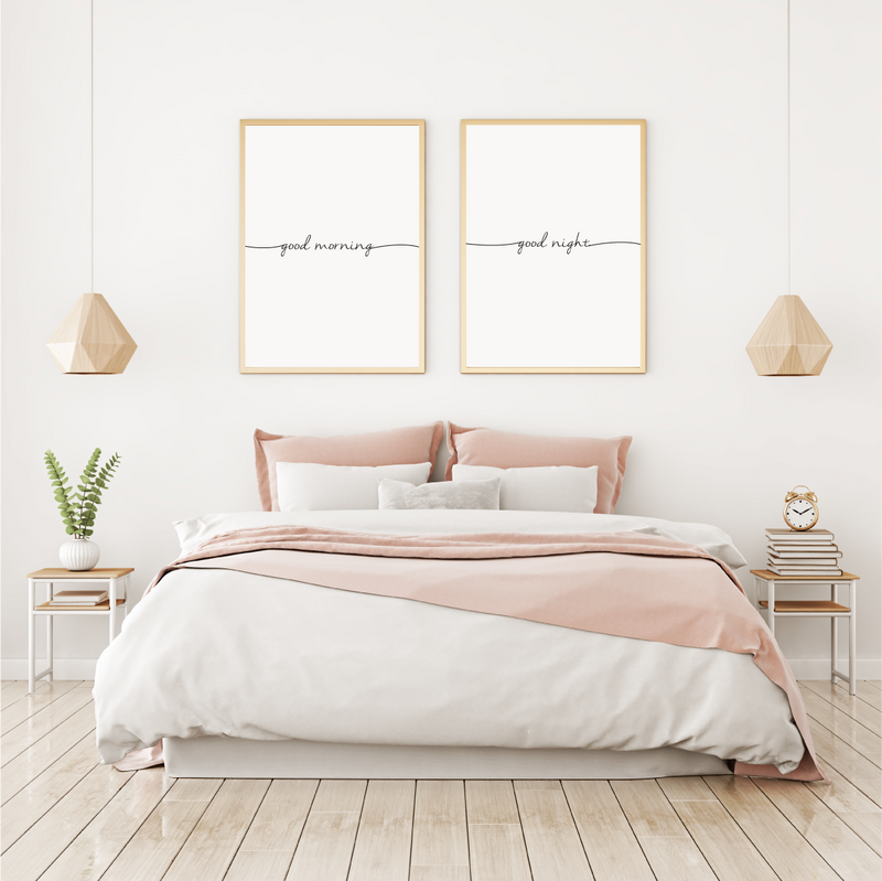 Good Morning - Good Night - Alotta Style - Interior Prints and Posters