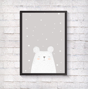Grey bear - Alotta Style - Interior Prints and Posters