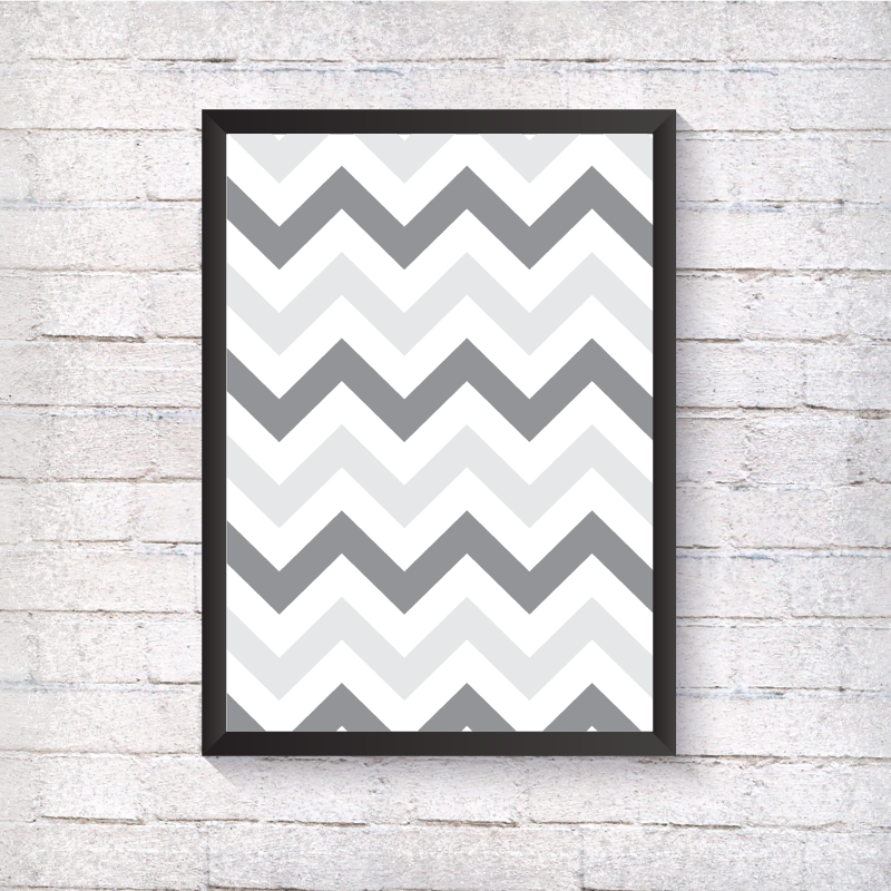 Grey Zig Zag - Alotta Style - Interior Prints and Posters