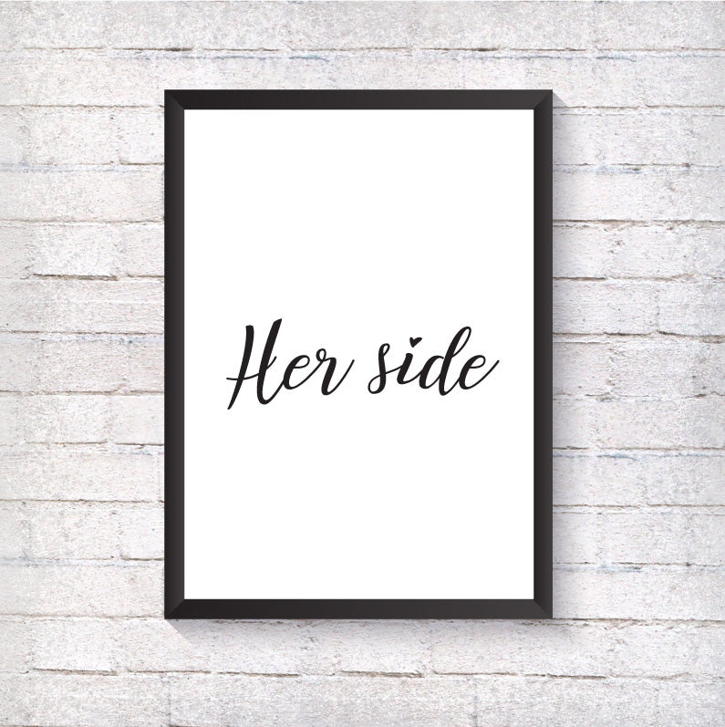 Her side - Alotta Style - Interior Prints and Posters