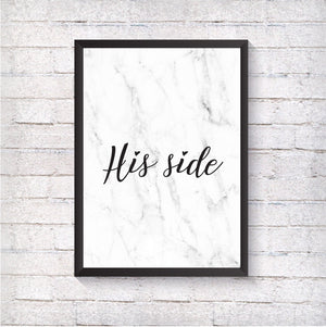 His side - Alotta Style - Interior Prints and Posters