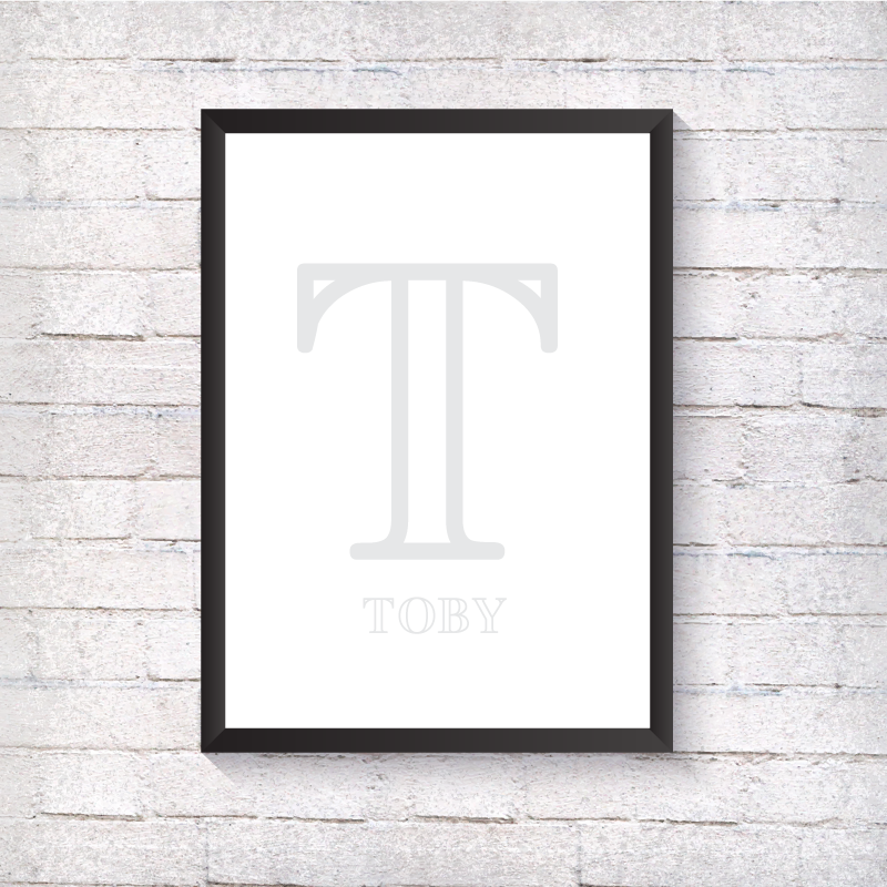 Nursery Letter - Grey - Alotta Style - Interior Prints and Posters