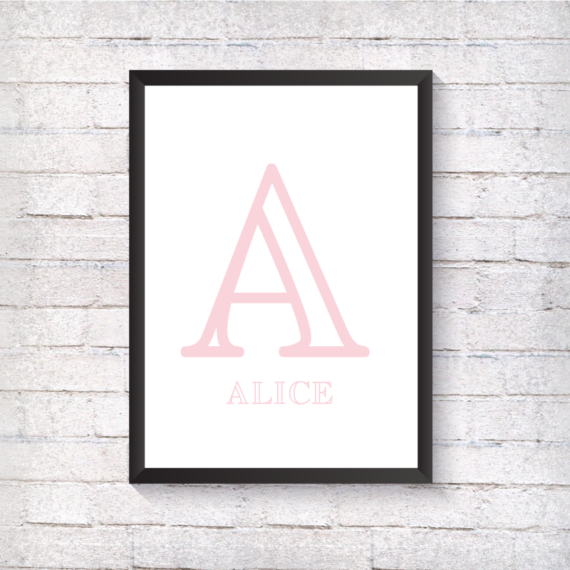Nursery Letter - Pink - Alotta Style - Interior Prints and Posters