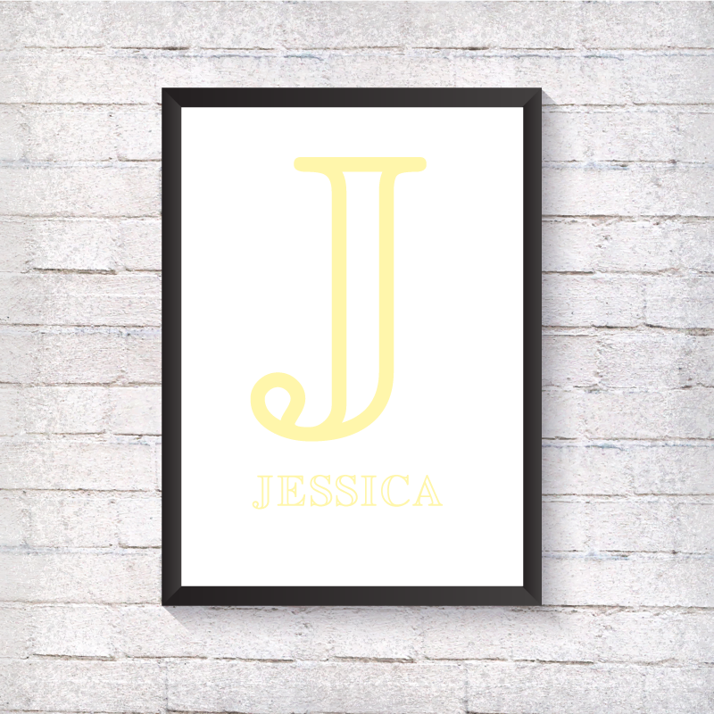 Nursery Letter - Yellow - Alotta Style - Interior Prints and Posters
