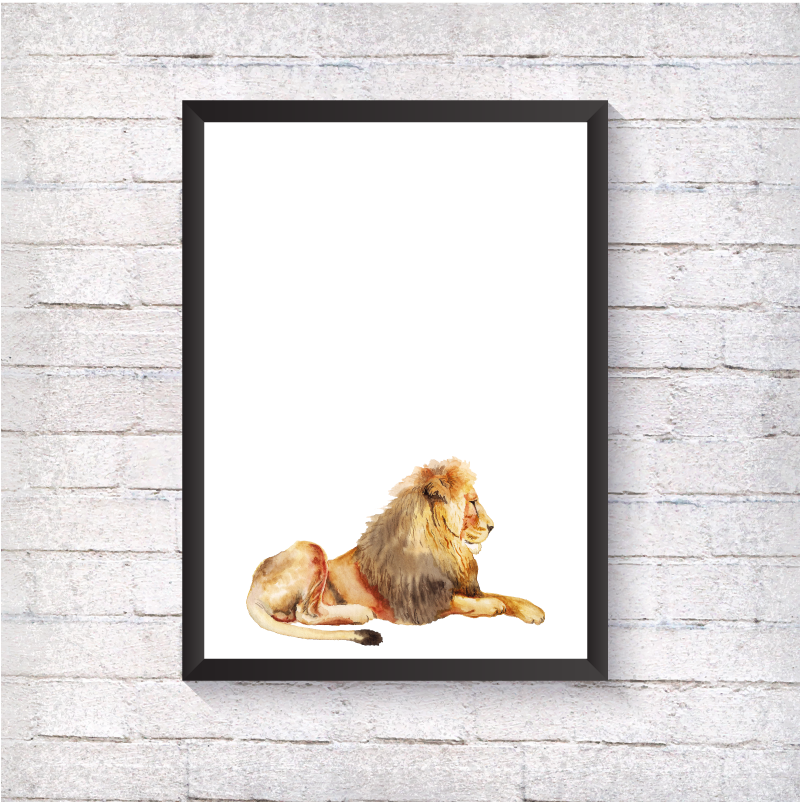 Watercolour Lion - Alotta Style - Interior Prints and Posters