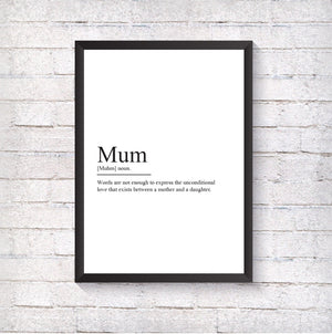 Mum Definition - Alotta Style - Interior Prints and Posters