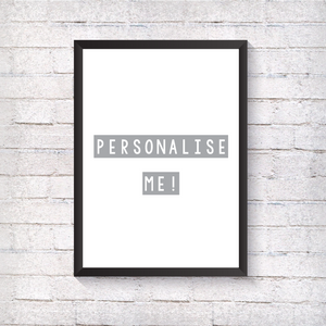 Personalised Print - Alotta Style - Interior Prints and Posters