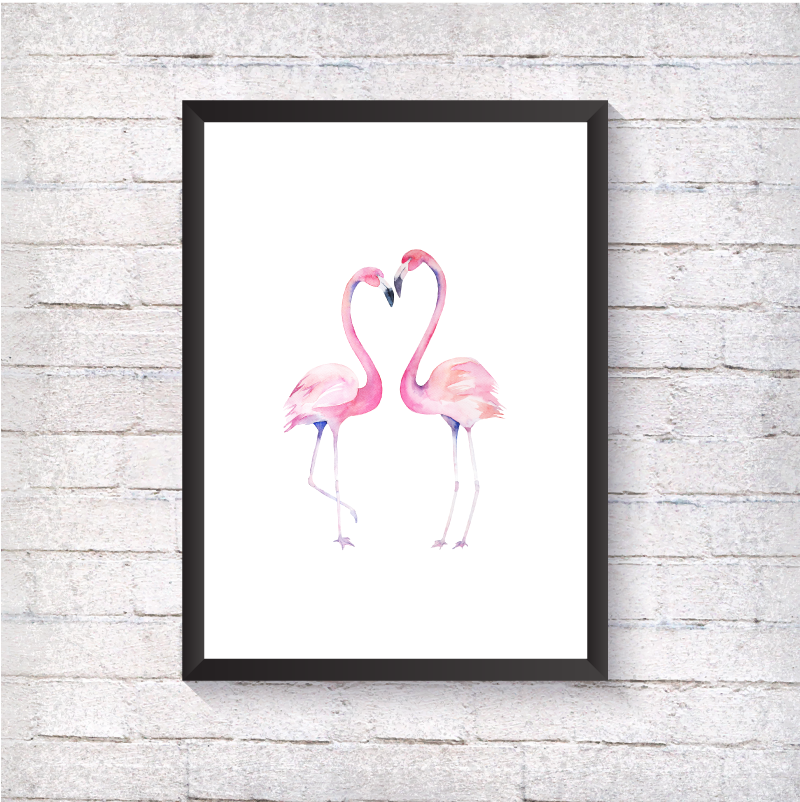 Watercolour Flamingos - Alotta Style - Interior Prints and Posters
