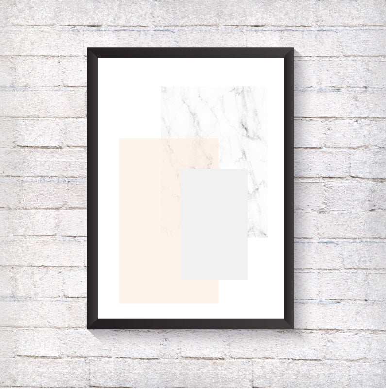 Grey, Pink and Marble - Alotta Style - Interior Prints and Posters