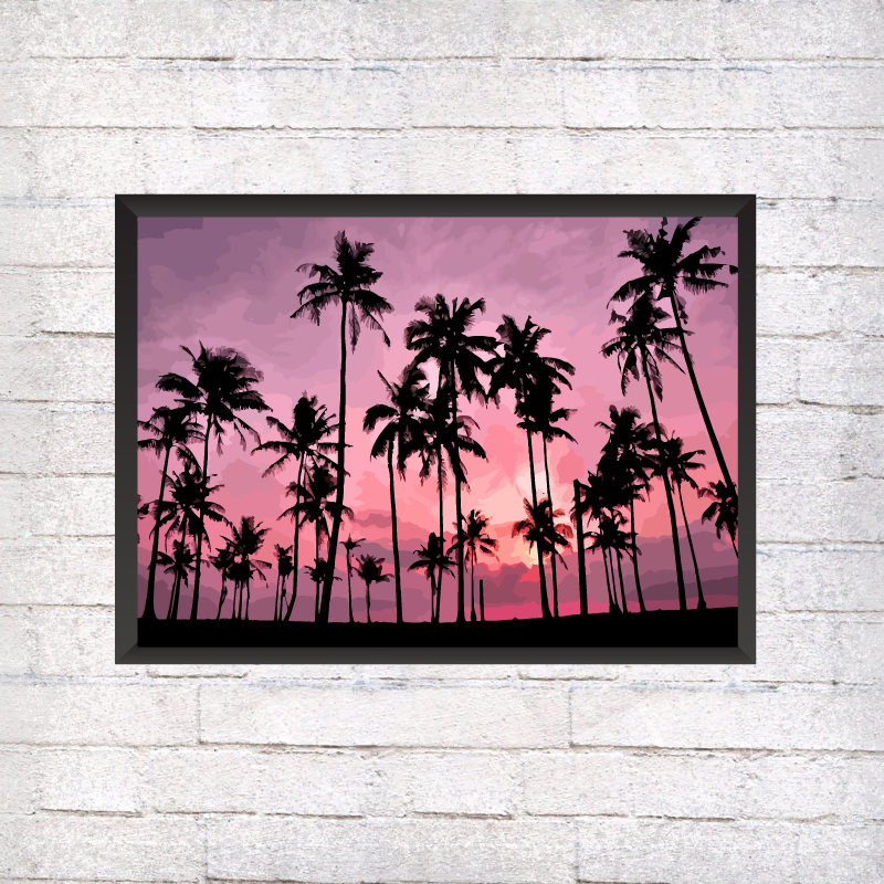 Pink Palm Trees - Alotta Style - Interior Prints and Posters
