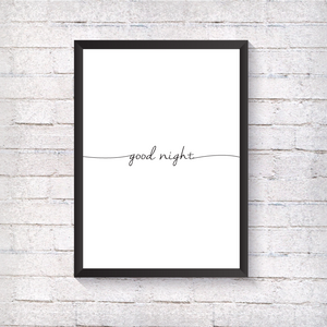 Good Night - Alotta Style - Interior Prints and Posters