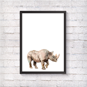 Watercolour Rhino - Alotta Style - Interior Prints and Posters