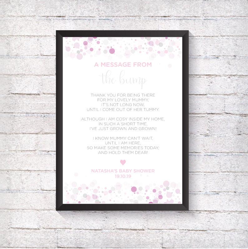 Baby Shower Message from Bump - Alotta Style - Interior Prints and Posters