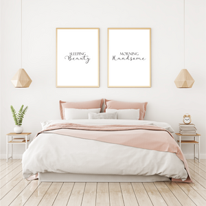 Sleep Beauty - Morning Handsome - Alotta Style - Interior Prints and Posters