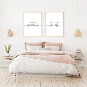 Time is precious, waste it wisely - Alotta Style - Interior Prints and Posters