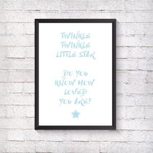 Twinkle Twinkle - Blue - Alotta Style - Interior Prints and Posters