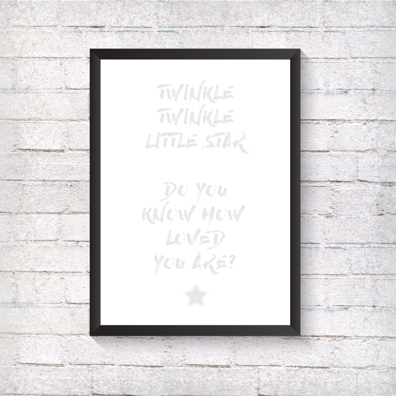 Twinkle Twinkle - Grey - Alotta Style - Interior Prints and Posters