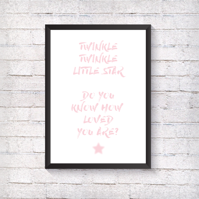 Twinkle Twinkle - Pink - Alotta Style - Interior Prints and Posters