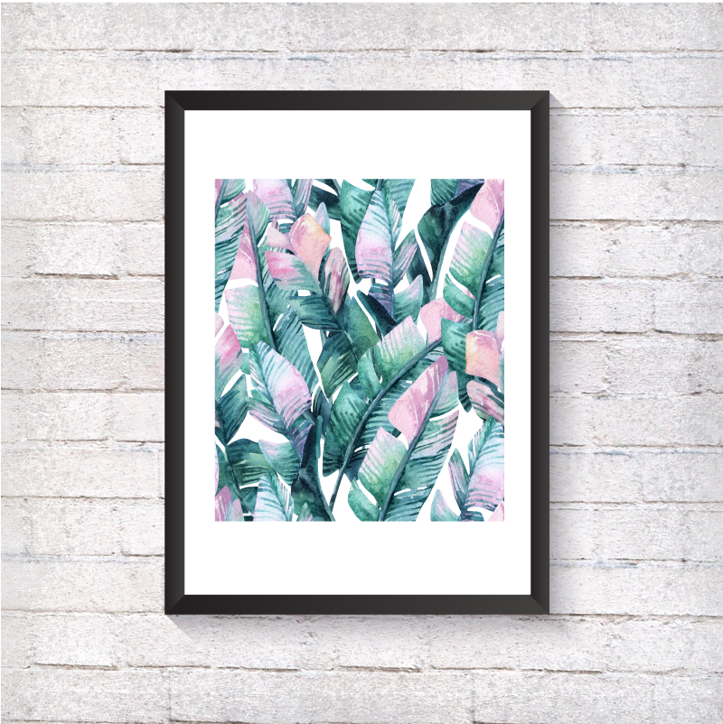 Watercolour Leaves - Alotta Style - Interior Prints and Posters