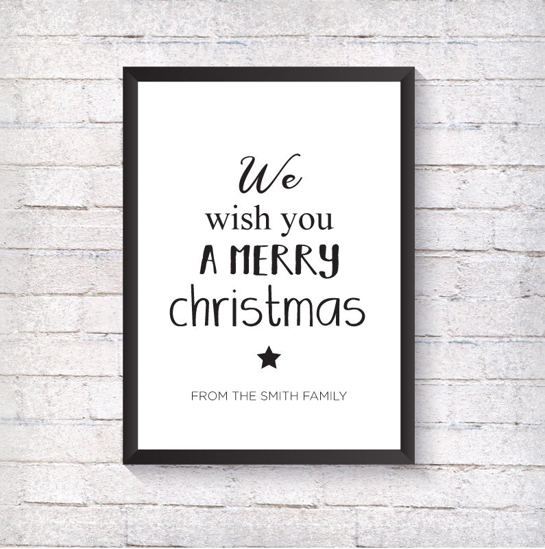 We wish you are merry Christmas - Alotta Style - Interior Prints and Posters