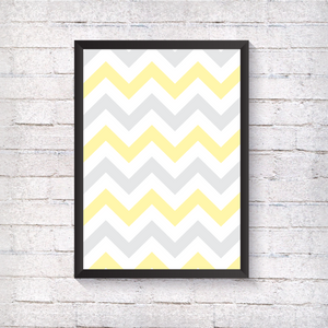 Yellow Zig Zag - Alotta Style - Interior Prints and Posters