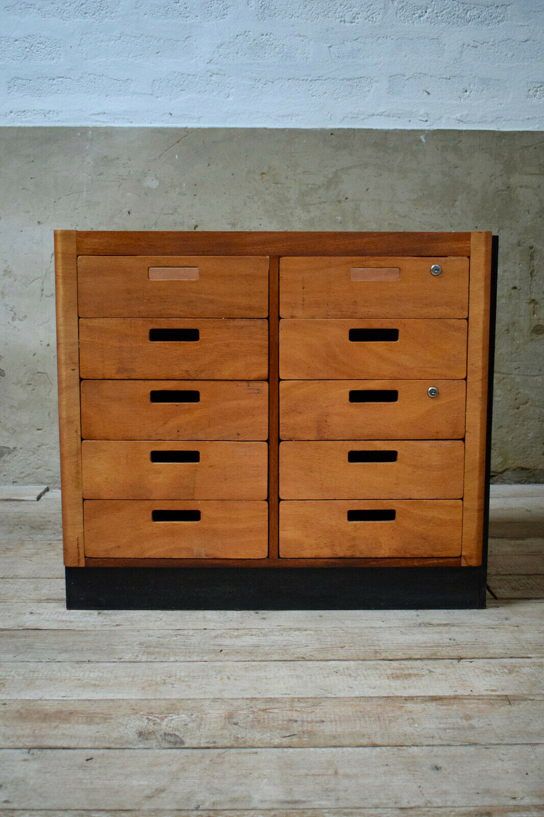 Reclaim Vintage Science Laboratory Bank Of Drawers Unit