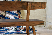 Rustic Wooden Vintage European Bench