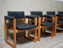 Set Of 4 Dutch Mid Century Modernist Dining Chairs