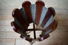 Pair Of Large 1 Meter Vintage Teak Plant Stands