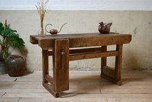 Vintage Industrial Oak Work Bench