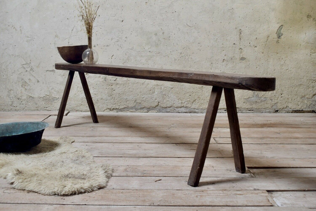 Antique Rustic Bench - 2m Long - Dining Table Bench