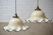 Large French Mid Century Vintage Pendant Light Shade