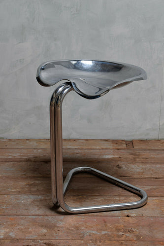 Chrome Tractor Stool By Rodney Kinsman For Bieffeplast