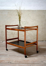 Danish Teak Mid Century Drinks Trolley By Dyrland