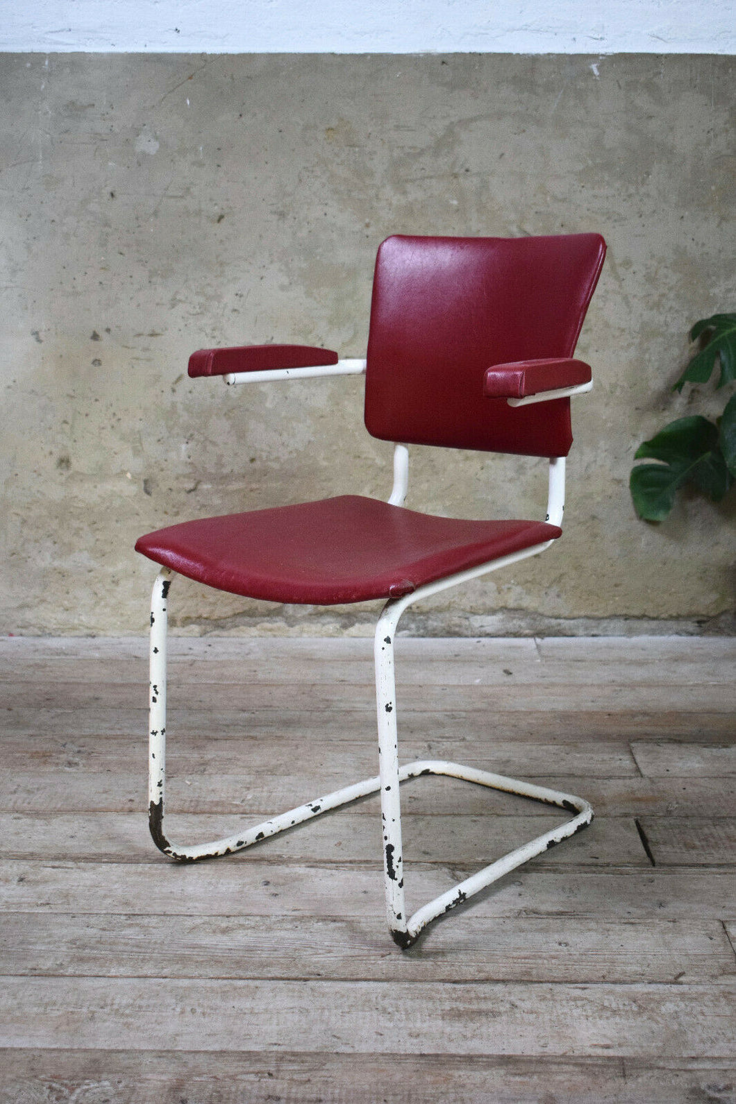 Pair Of Tubular Steel 1970s Carver Dining Chairs