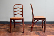 Pair Of Rare Antique Thonet Ladder Back Chairs