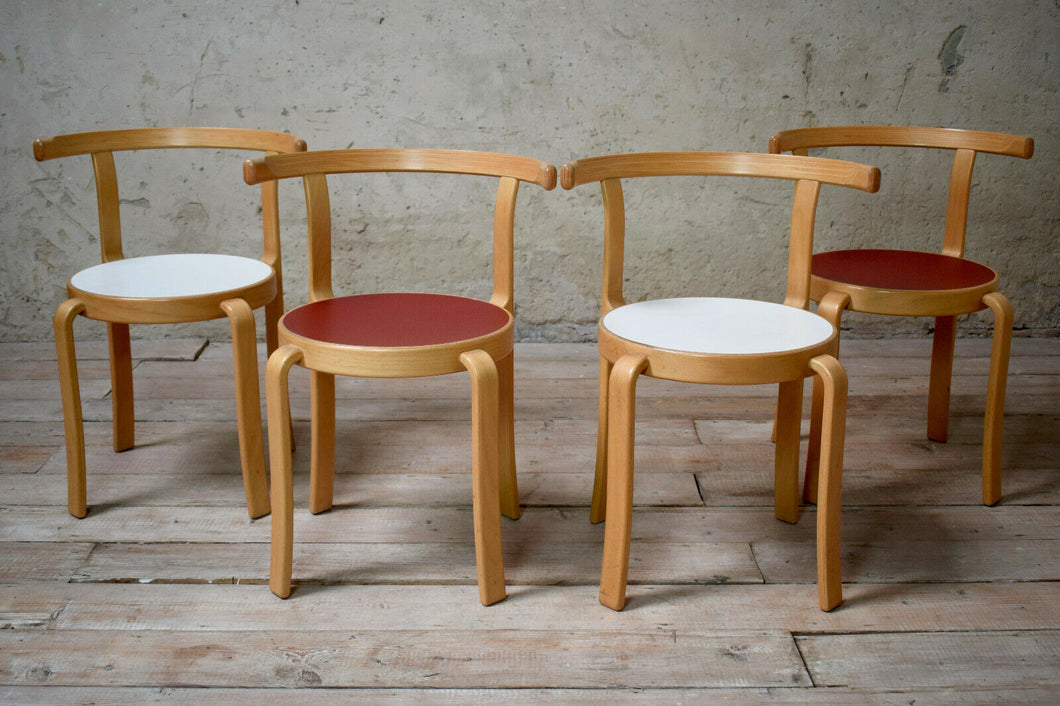 Set Of 4 Danish Mid Century Series 8000 Stacking Chairs By Magnus Olesen