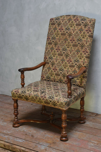Antique William And Mary Armchair