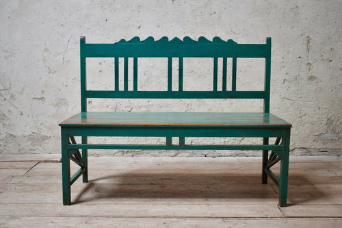 Vintage Green Teal Bench