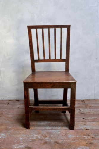 Antique 18th Century Primitive Oak Farmhouse Chair