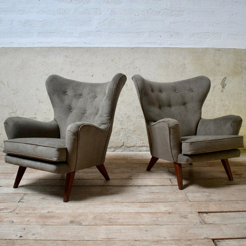 Pair Of Vintage G-plan Wingback Armchairs