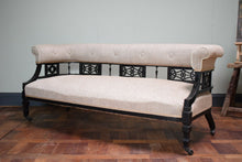 Antique Aesthetic Movment Late Victorian Ebonised Sofa