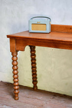 Victorian Bobbin Turned Oak Console Table