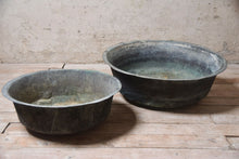 Set Of French Verdigris Copper Cheese Vatts