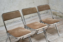 Set of 4 Vintage Italian Folding Chrome Chairs