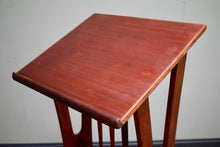 Mid Century Teak Lecturn With Makers Plaque