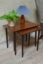 Mid Century Rosewood Danish Nest Of Tables By Bramin