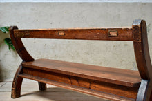 Vintage Pine Church Pew